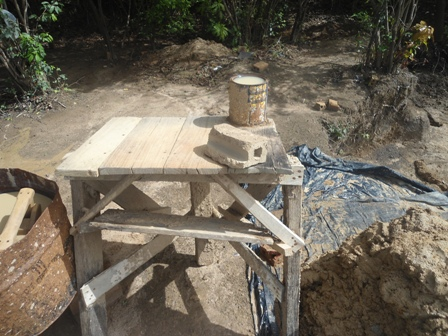 The Worktable Where The Clay Will Be Cast