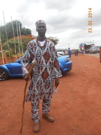 Man dressed in costume for the Mashramani celebrations